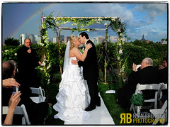 Taste the Rainbow (Ryan Brenizer) Tags: wedding love weather groom bride newjersey rainbow nikon kiss weddingphotojournalism libertyhouse nicoleandbrad 2470mmf28g