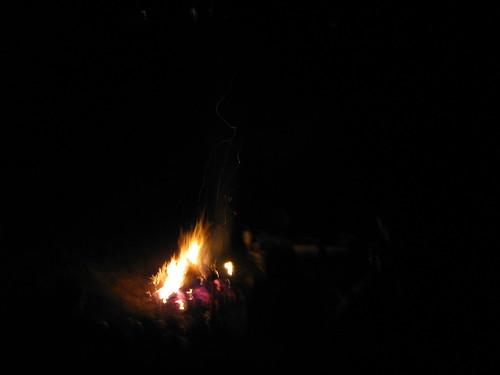 Campfire, hookah, stories