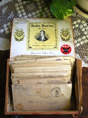 Another Fabulous Find! (HA! Designs - Artbyheather) Tags: old vintage treasure box letters husband cigar jail wife fabulous find 30s correspondence