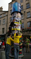 Couldn't Afford a Ladder (MalB) Tags: edinburgh royalmile performers edinburghfestivalfringe wemadeafunny bristolrevunion