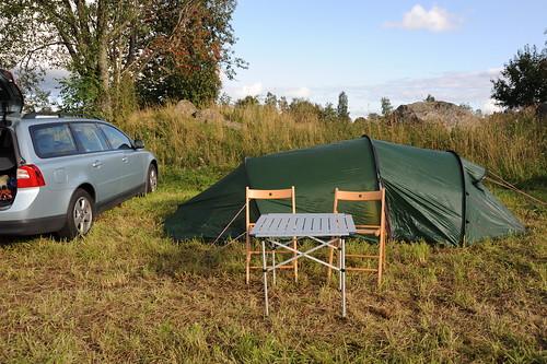愛車とテント