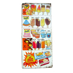 1960s Wall's ice cream shop sign (Wooden donkey) Tags: sign metal shop vintage advertising tin 60s