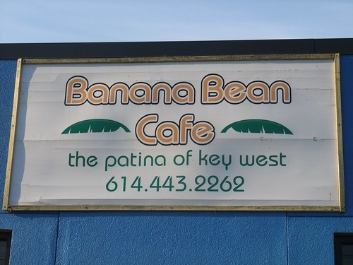 Banana Bean Cafe Sign