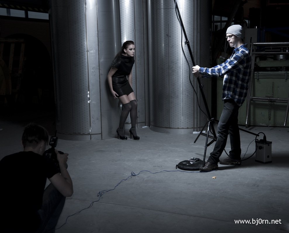 photo: Bjørn Christiansen, Behind the scenes with Lars Brønseth