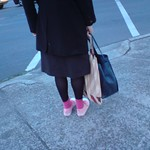 Black stockings, pink socks, pink shoes - Holmesglen thumbnail