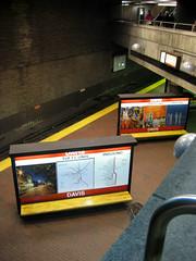 DavisInbound (Y Mucho Mas) Tags: boston underground subway publictransit publictransportation bricks tube somerville mbta publicart masstransit davis redline thet 02144 subwayplatform