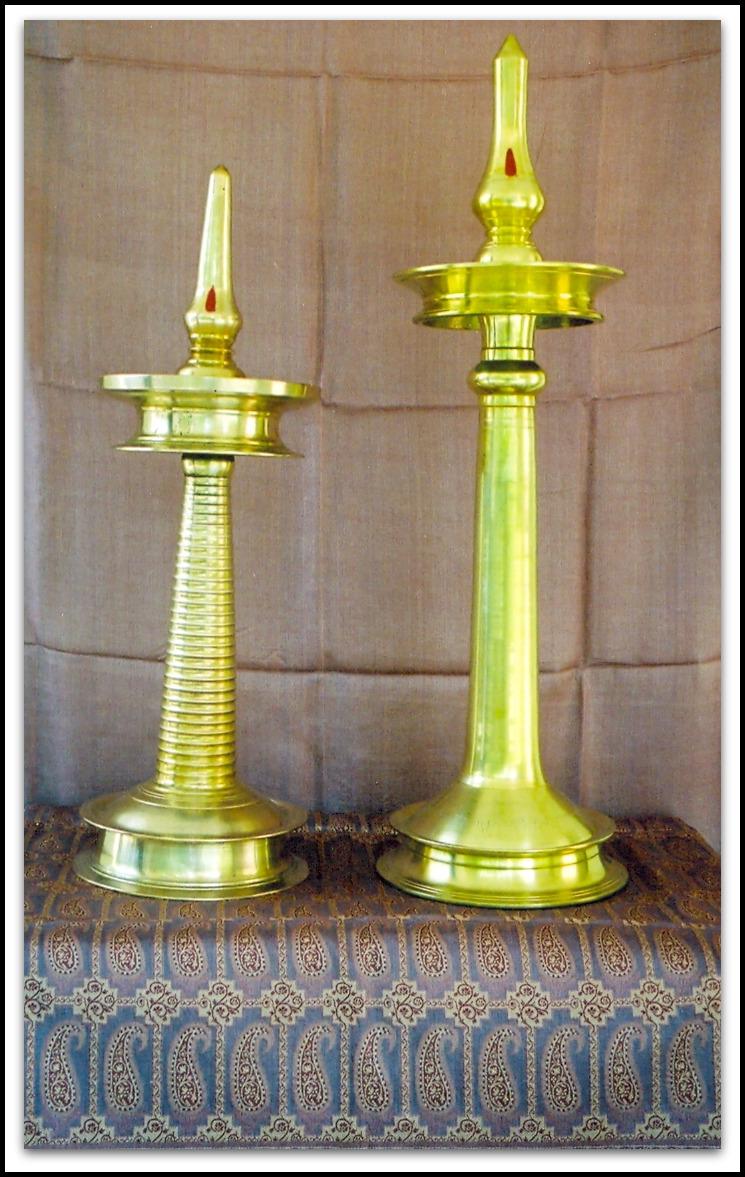 Lighting lamps in pooja room
