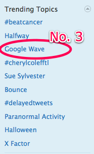 Twitter trending topic - Google Wave