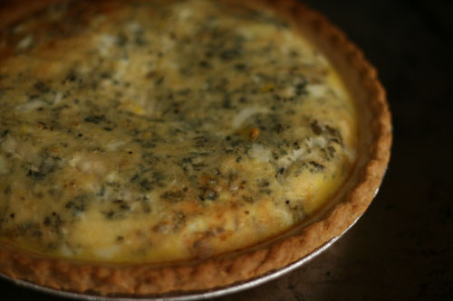 Blue Cheese and Caramelized Shallot Quiche Recipe