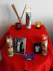 Day 360: Preparing for Dia De Los Muertos (Cuerazola) Tags: dayofthedead rememberance diadelosmuertos 365 alter corriente tacomaartmuseum qepd