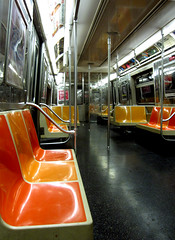 Empty NY Subway