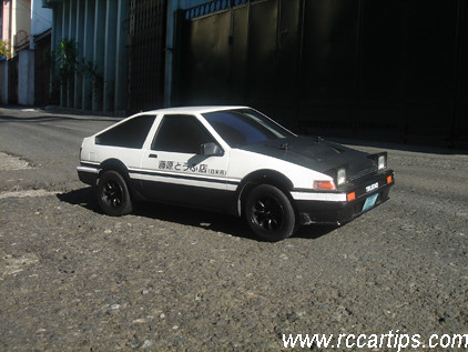 Initial d rc drift car scale