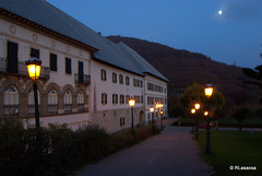 Vista nocturna de Roncesvalles, Navarra