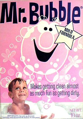 Mr. Bubble Box vintage Bath