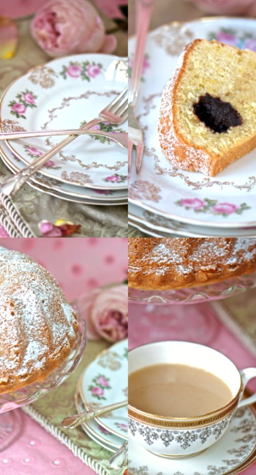 tea cake collage