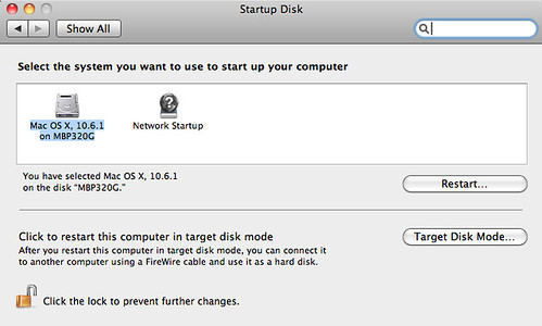 Startup Disk Selection