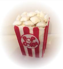 POPCORN!! (Fabric Fancies) Tags: birthday christmas food cakes egg decoration felt ornament popcorn pan frying fabricfancies