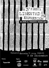 Diseo de cartel (Matadero Clandestino) Tags: libertad fiesta arte free escuela diseo almeria cartel periodismo periodista expresin