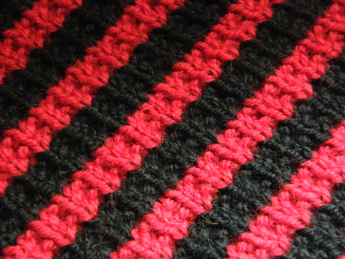 Bias Stripe Cowl - detail