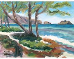Waimanalo Blue (kanest) Tags: hawaii oahu waimanalo mokuluaislands pleinair windawardcoast