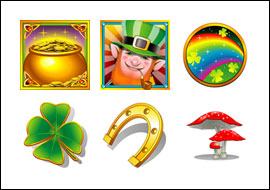 free Rainbows End slot game symbols