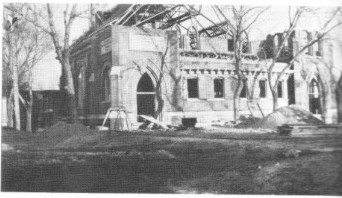 Construction of St John Church in Seward, Nebraska, in 1877
