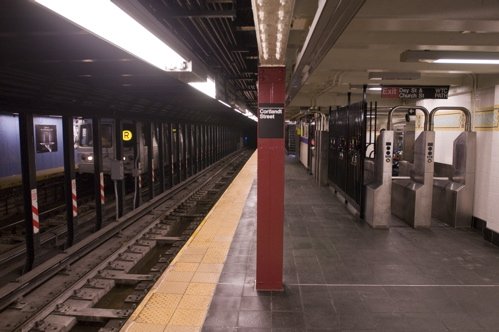 Construction is already underway on the southbound platform, which will reopen September 11, 2011.