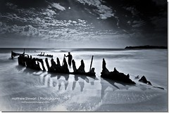 Fading In The Shadows (Matthew Stewart | Photographer) Tags: ocean sea water boat sand waves ship australia qld queensland kane wreck ssdicky nd400 dickybeach kanegledhill