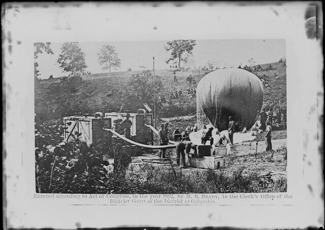View of balloon ascension by The US National Archives