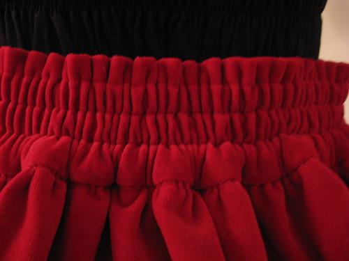 Versatile Velveteen & Vinyl Cage Skirt Set 009
