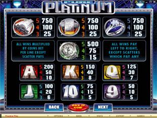 free Pure Platinum slot mini symbol