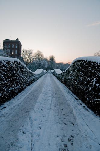 Golven in de sneeuw