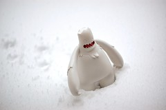 Bill Goes to Work (dlanham) Tags: snow cold ice toy vinyl bigfoot yeti abominablesnowman davidlanham dlanham billtheyeti