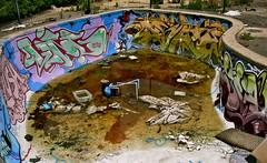 the pool (pilot81) Tags: graffiti id australia urbanexploration lush derelict ling gh urbex motelhell californiahotel dvate