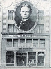 Frank E. Campbell superimposed over his Funeral Church building, 241-243 W. 23rd Street, New York City, around 1900 (Dr. Mo) Tags: street newyorkcity newyork west pcs funeral undertaking director campbell 23rd funeralhome undertaker west23rdstreet funeraldirector stephenmerritt deathcare drmo moshinskie jimmoshinskie funeralcustoms professionalcarsociety frankecampbell funeralchurch