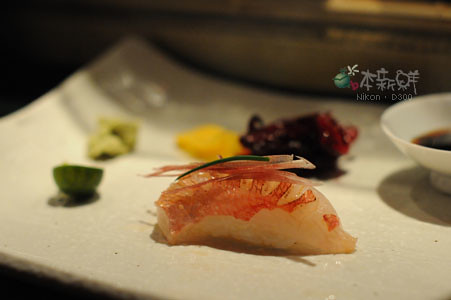 金目鯛+茗荷+細蔥