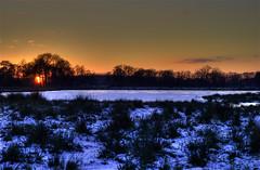 Westerbroek (bobbrink) Tags: trees winter sunset orange lake snow tree nature landscape zonsondergang bomen meer sneeuw natuur boom groningen bos zon hdr oranje landschap ijs hoogezand natuurgebied westerbroek sappemeer