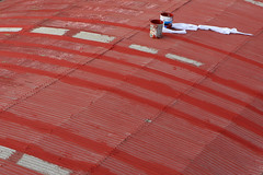 Covering the whole world (Pulpolux !!!) Tags: roof red acrylic protective curved ef2470mmf28lusm membrane coating