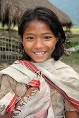 Girl in Barbill Mishingoan, Assam (sensaos) Tags: portrait people india girl smile face smiling rural countryside asia village retrato traditional north portrt east portret assam ritratto meisje portre azi kaziranga