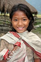Girl in Barbill Mishingoan, Assam (sensaos) Tags: portrait people india girl smile face smiling rural countryside asia village retrato traditional north porträt east portret assam ritratto meisje portre azië kaziranga