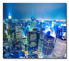 Top of the Rock - Rockefeller Center (New York) (` TheDreamSky) Tags: newyorkcity newyork night manhattan rockefellercenter topoftherock vertorama