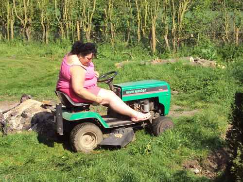 Ebay ride on mower ADVERT  SOOO FUNNY !!!!