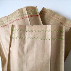 stitched paper bags