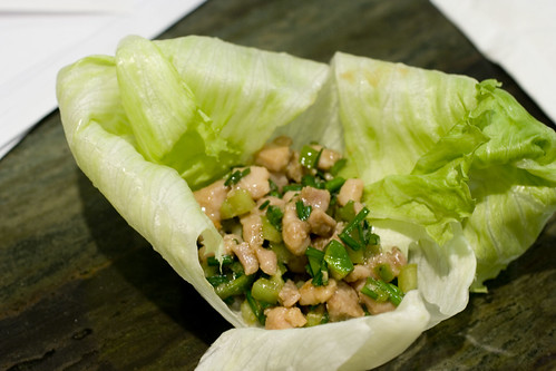 Chicken and Flowering Chive Lettuce Wrap