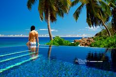 Pool at Banyan Tree, Seychelles (Dan & Luiza from TravelPlusStyle.com) Tags: infinity horizon resort seychelles infinitypool banyantreehotel infinityedgepool vanishingedgepool negativeedgepool disappearingedgepool zeroedgepool