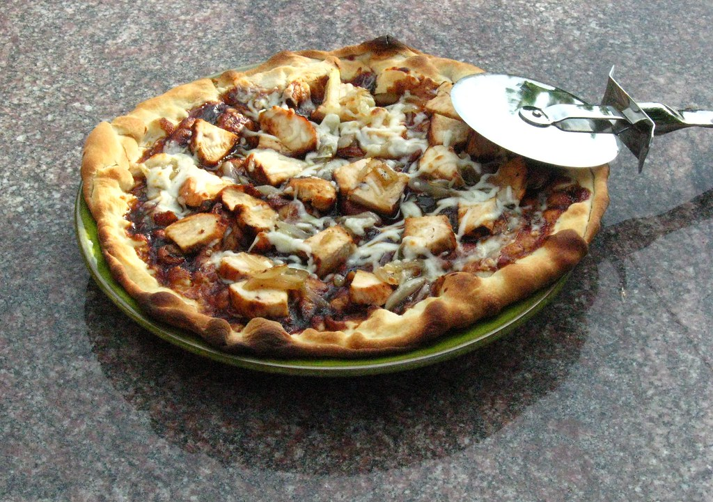 Hot off the grill: BBQ chicken pizza.