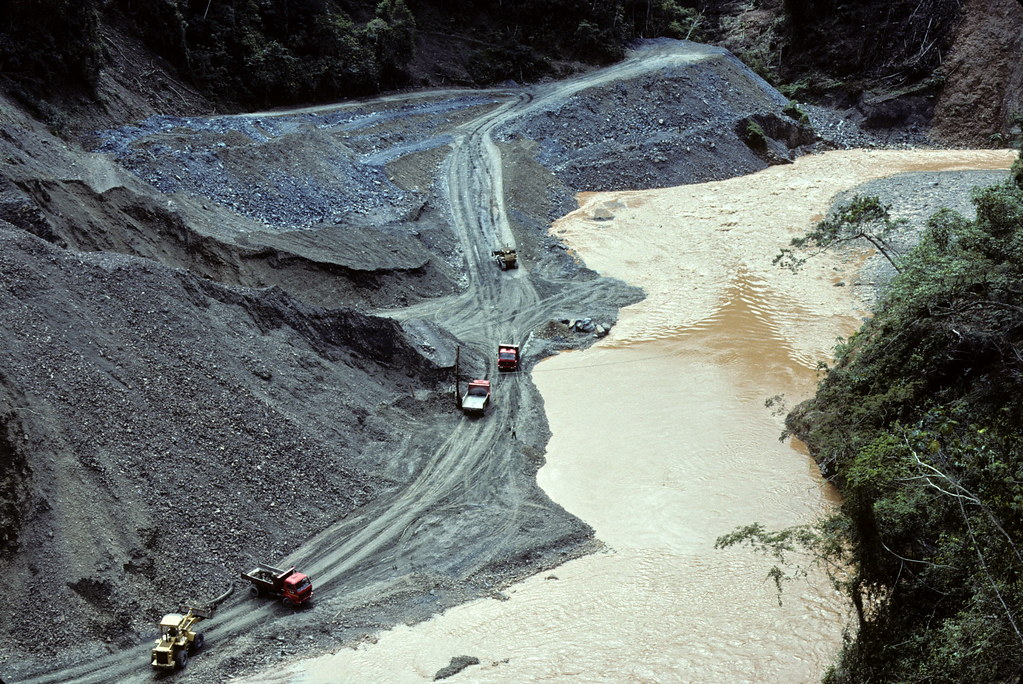 Gold mining activity, Tipuani River, Bolivia