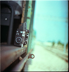 .hot trip. (andrenzo) Tags: love film station ferry composition train vintage photography photo nc kodak bokeh dream lubitel dreams medium format intro expired kiev portra stazione treno medio 60 160 formato sfocato pellicola introcoso andrenzo andreacolombo introvertevent colomboandrea