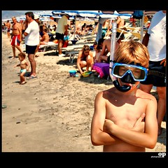 The Great Scuba Diver (Osvaldo_Zoom) Tags: summer portrait people italy beach seaside kid zoom scuba explore scubadiving frontpage calabria magnum osvaldo martinparr beachproject