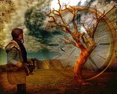 meeting the tree (Eddi van W.) Tags: light texture love creativity energy handmade digitalart gimp textures creativecommons ritual meditation spirituality spiritual deepness kreativität spiritualität eddi07 graphicmaster